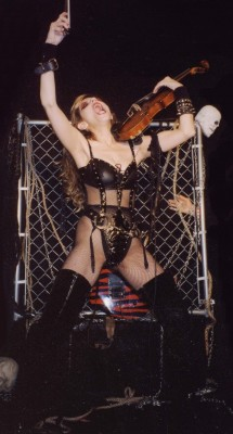 "CHRIS V'S VARIETY BLOG'S ARTICLE on THE  GREAT KAT GUITAR SHREDDER! ""Katherine Thomas is a musical virtuoso. Over-the-top antics and the thin line between brilliance and insanity. The Great Kat is amazing. "" - Chris V's Variety Blog"