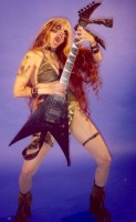 "NASHVILLE SCENE FEATURES THE GREAT KAT IN ""AXTRESSES: GREAT LADY GUITARISTS"" ""Shred queen Katherine Thomas (aka Great Kat)""- By Tracy Moore, Nashville Scene's Nashville Cream"