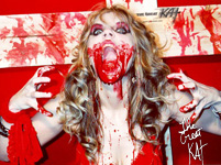 BLOOD POSTER (Color 18�x24�)! Autographed HOT Great Kat Color 18�x24� Poster! Limited Quantities!
