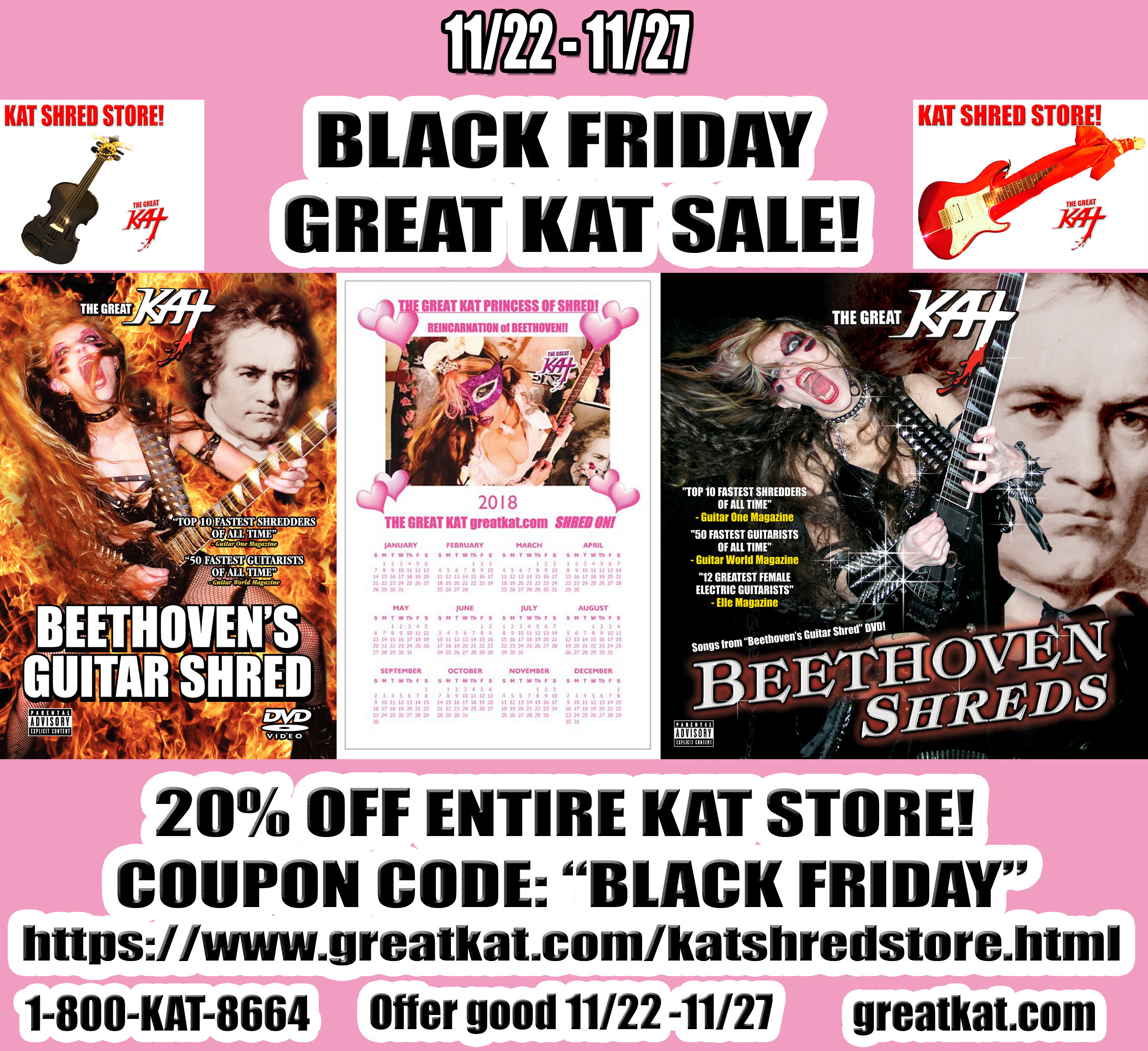 The Great Kat Guitar/Violin Double Virtuoso
